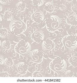 seamless damask pattern in beige