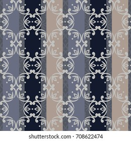 seamless damask pattern in dark blue. Vintage colorful ornament. background for wallpaper, printing on the packaging paper, textiles, tile.