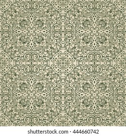 Seamless damask pattern. Endless pattern can be used for ceramic tile, wallpaper, linoleum, textile, invitation card, web page background.