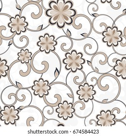 Seamless damask pattern. Endless pattern can be used for ceramic tile, wallpaper, web page background.