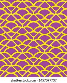 Seamless damask pattern with shapes
