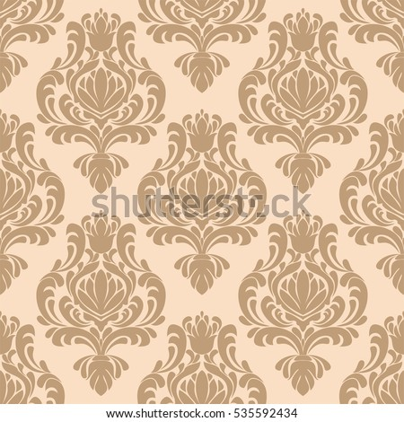 Seamless Damask Retro Wallpaper For Design