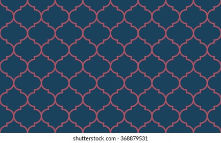 Seamless dark blue and burgundy wide moroccan pattern vector