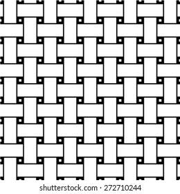 Seamless dark gray woven pattern vector