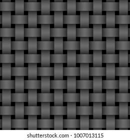 Seamless dark weaving pattern background.