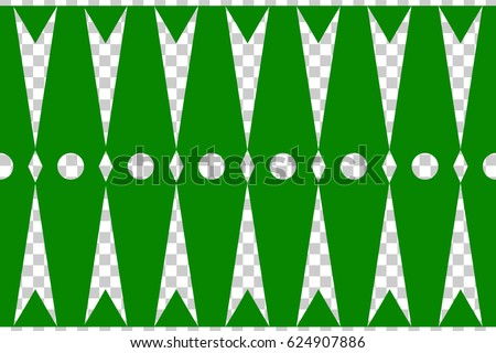 Seamless Decoration Traditional House Betawi Old Stock Vector