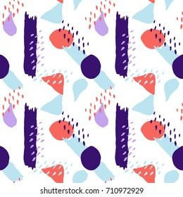 Seamless decorative pattern with abstra?t shapes