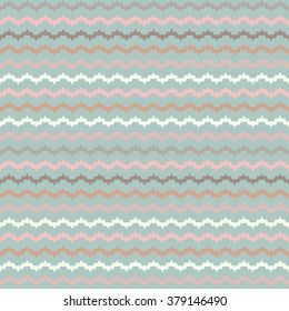 Seamless decorative vector background with zigzag line. Print. Cloth design, wallpaper. Vintage.