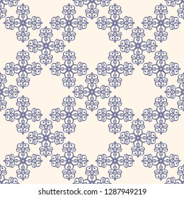 Seamless decorative vector pattern with elegant openwork ornament. Abstract background for printing on paper, wallpaper, covers, textiles, fabrics, for decoration, decoupage, scrapbooking and other
