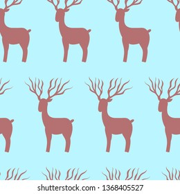 Seamless Deer, art, rapid pattern