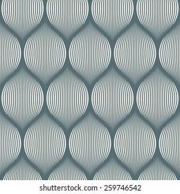 Seamless denim blue optical illusion woven pattern vector