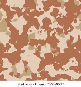 Seamless desert camouflage vector