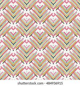 Seamless design. Retro illustration. Memphis graphic. Avant-garde pattern. Vintage ornament. Bauhaus print. Postmodernism background. Hipster art. Futuristic wallpaper. Geometry backdrop. Vector.