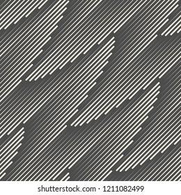 Seamless Diagonal Line Background. Vector Geometric Pattern. Monochrome Regular Texture