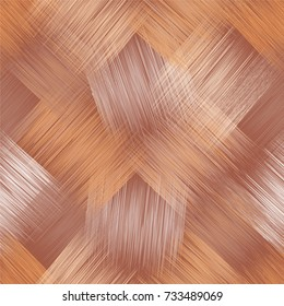 Seamless diagonal pattern with grunge striped square elements in beige,brown,white colors for web design