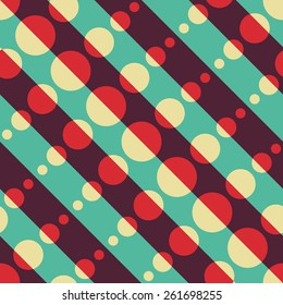 Seamless Diagonal Stripe Pattern. Vector Background