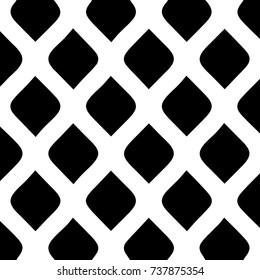 Seamless diamond pattern. Geometric. Vector art. Hand drawn vector illustration with cartoon black and white decorative elements.