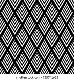 Seamless diamonds geometric pattern. Vector art.
