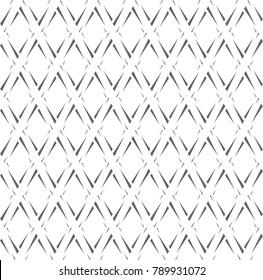 Seamless diamonds pattern. Rhombus shape texture. Vector art.