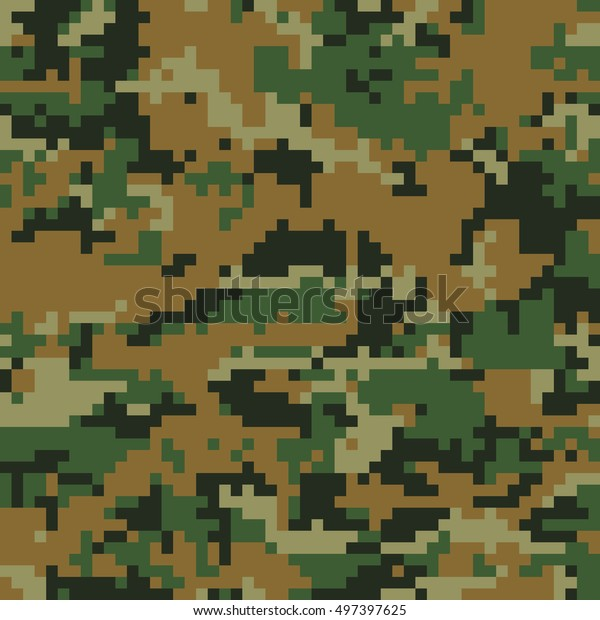 various styles sleek excellent quality Seamless Digital Woodland Camouflage Pattern Vector Stock ...