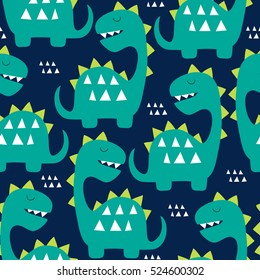 seamless dinosaur pattern vector illustration