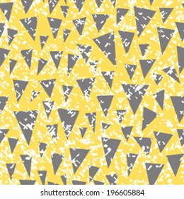 Seamless Distressed Triangles Background Pattern
