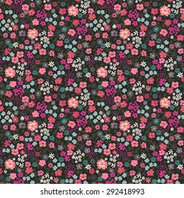 Seamless Ditsy Floral Pattern in vector