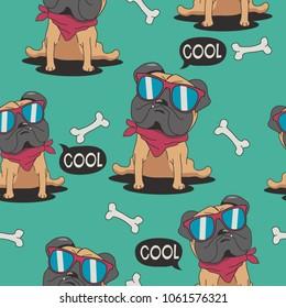 seamless dog vector design