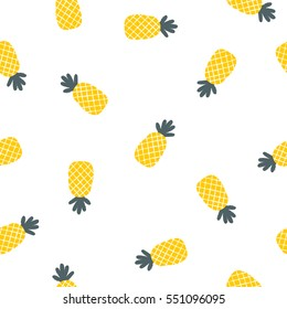Seamless Doodle Fruit Background Pattern. Vector Illustration