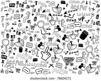 seamless doodle web pattern