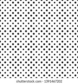 Seamless dot pattern background design - black and white abstract vector graphic from circles