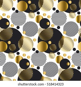 seamless dots modern luxury pattern. geometry circle seamless festive amass style fabric sample. geometric pattern swatch vector illustration