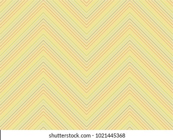 Seamless double diagonal line pattern vector. Rainbow design on yellow. Design print for textile, fabric, wallpaper, background. Set 4