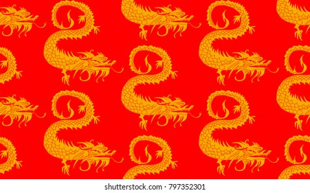 seamless dragons pattern