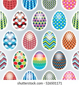 seamless pattern on easter theme painted stock vector royalty free
