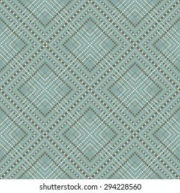 Seamless elegant vintage dot line diamond check pattern background. Seamless Background image of elegant vintage dot line diamond check pattern.