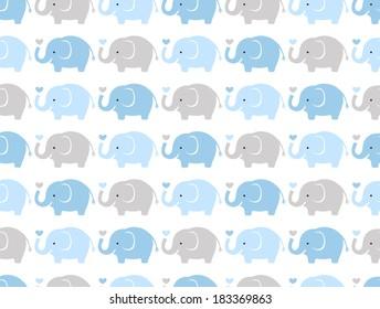seamless elephant animal cartoon