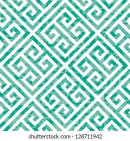 Seamless Emerald Greek Key Background Pattern