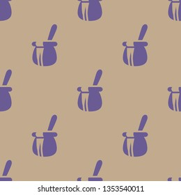 Seamless endless repeating flat two color honeypot background pattern. Design for wrapping paper, cover or greeting card.