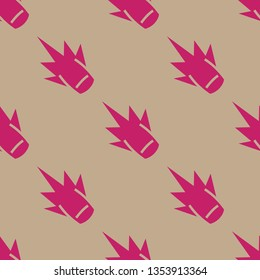 Seamless endless repeating flat two color clout background pattern. Design for wrapping paper, cover or greeting card.