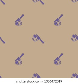 Seamless endless repeating flat two color minigun background pattern. Design for wrapping paper, cover or greeting card.