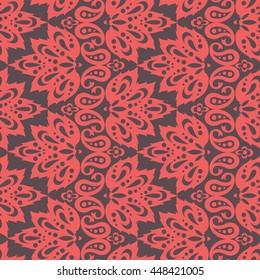 Seamless Ethnic Decorative Pattern. Vector Seamless Pattern