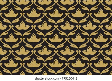 Seamless ethnic floral pattern. Vector ornament. Indian pattern