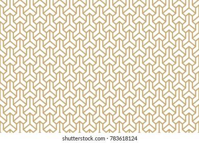 Seamless ethnic geometric three-dimensional pattern. Vector ornament. Japanese pattern