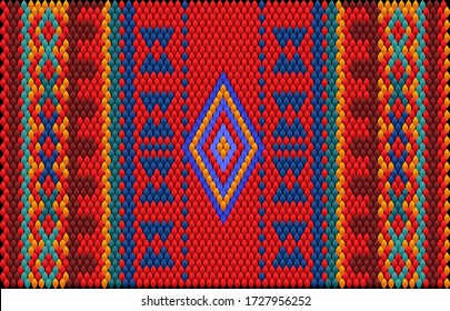 Seamless ethnic ornament for fabrics, interiors, ceramics and furniture in the style of Latin America.