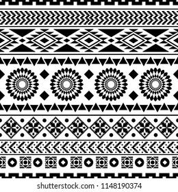 seamless ethnic pattern design. vector illustration. Aztec design