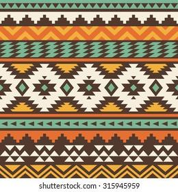 seamless ethnic pattern design. vector illustration