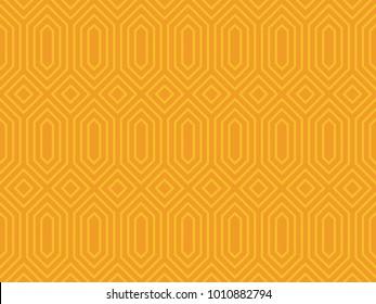 Seamless ethnic pattern vector. Design dark yellow on yellow. Design print for textile, wallpaper, fabric, background.