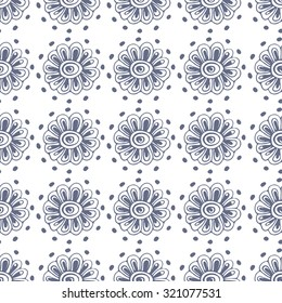 Seamless ethnic patterns. The geometrical pattern of tribal art and decor of the Aztecs, is drawn by hand. Vector illustration to complement your exclusive design.