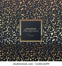 seamless exclusive festive glossy vector background image with golden frame